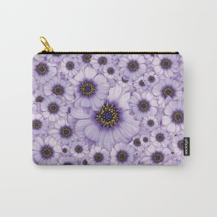 Daisy Pattern Carry-All Pouch