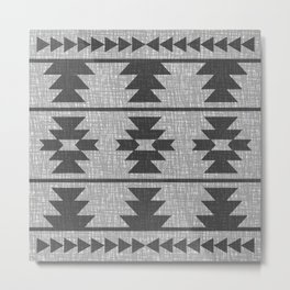 Southwestern Pattern 139 Beige Metal Print