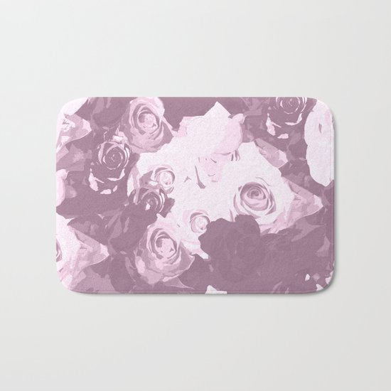 Rose bouquet - beautiful roses from rose garden - vintage style Bath Mat