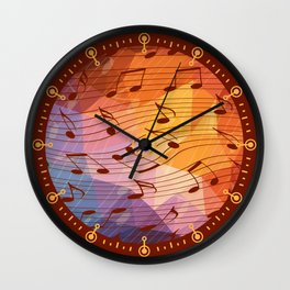 Music notes III Wall Clock