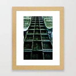 Green Path Framed Art Print