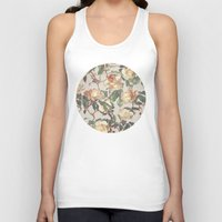 bedding Tank Tops featuring Soft Vintage Rose Pattern by micklyn
