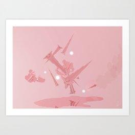 Voyage in Pink Art Print