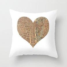 heart map 2 Throw Pillow