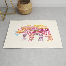 Bear in Different Languages Rug