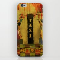 taxi driver iPhone & iPod Skins featuring Taxi Driver by David Amblard