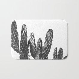 Cactus Photography Print {3 of 3} | B&W Succulent Plant Nature Western Desert Design Decor Bath Mat