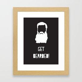 Get Bearded Framed Art Print