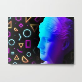 Ancient neon gods #4: Ceres/Demeter Metal Print