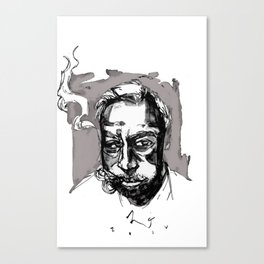 the cigarman Canvas Print