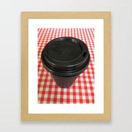 Black Coffee Cup Framed Art Print