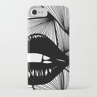 lips iPhone & iPod Cases featuring Lips by Aurelie