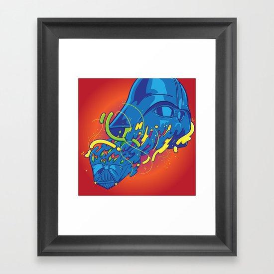 Happily melting Darth Vader Framed Art Print