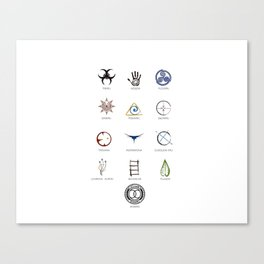 The 100 - 13 Clans Canvas Print