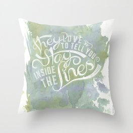 LYRICS - Stay inside the lines color Throw Pillow