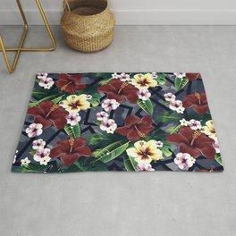 Geometric and Flowers Rug