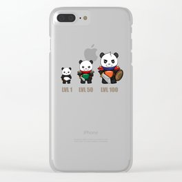 Gamer Panda Dungeon RPG Tabletop funny gift Clear iPhone Case