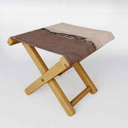 rotated rustic roof Folding Stool