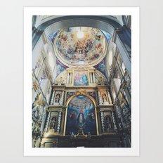 Cathedral Puebla Mexico Art Print