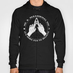 Me & Paranormal You - James Roper Design - Ouija B&W (white lettering) Hoody
