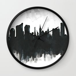 Las Vegas Skyline Painting Wall Clock