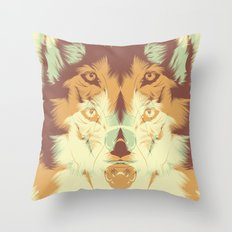 WOLF A. Throw Pillow