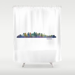 Boston Massachusetts City Skyline Hq V1 Shower Curtain