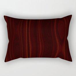 Mahogany Wood Texture Rectangular Pillow