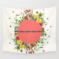 theater Wall Tapestries featuring Organic Beauty_1 by Dawn Gardner
