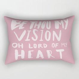 Be Thou My Vision x Rose Rectangular Pillow