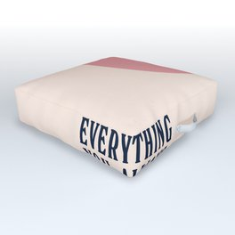 Woody Allen minimalist movie poster, alternative playbill, everything you wanted to know about sex Outdoor Floor Cushion