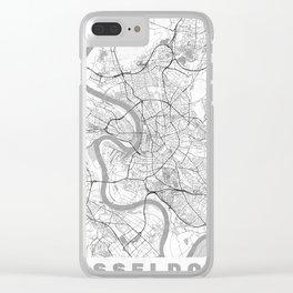 Dusseldorf Map Line Clear iPhone Case