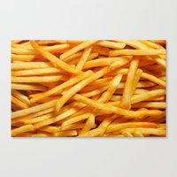 fries Canvas Prints featuring fries. by Modern Wolf