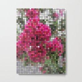 Crape Myrtle Mosaic Metal Print
