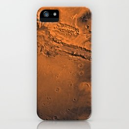 Valles Marineris, Mars iPhone Case