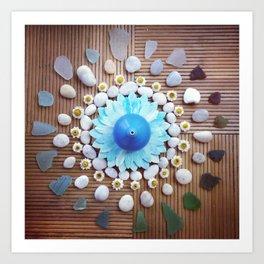 Beach Mandala Art Print