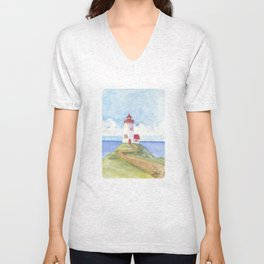 Peaceful Lighthouse Unisex V-Neck