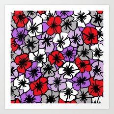 Flower Power (red purple version) Art Print