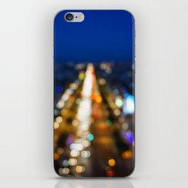 Paris Nighttime Traffic iPhone Skin