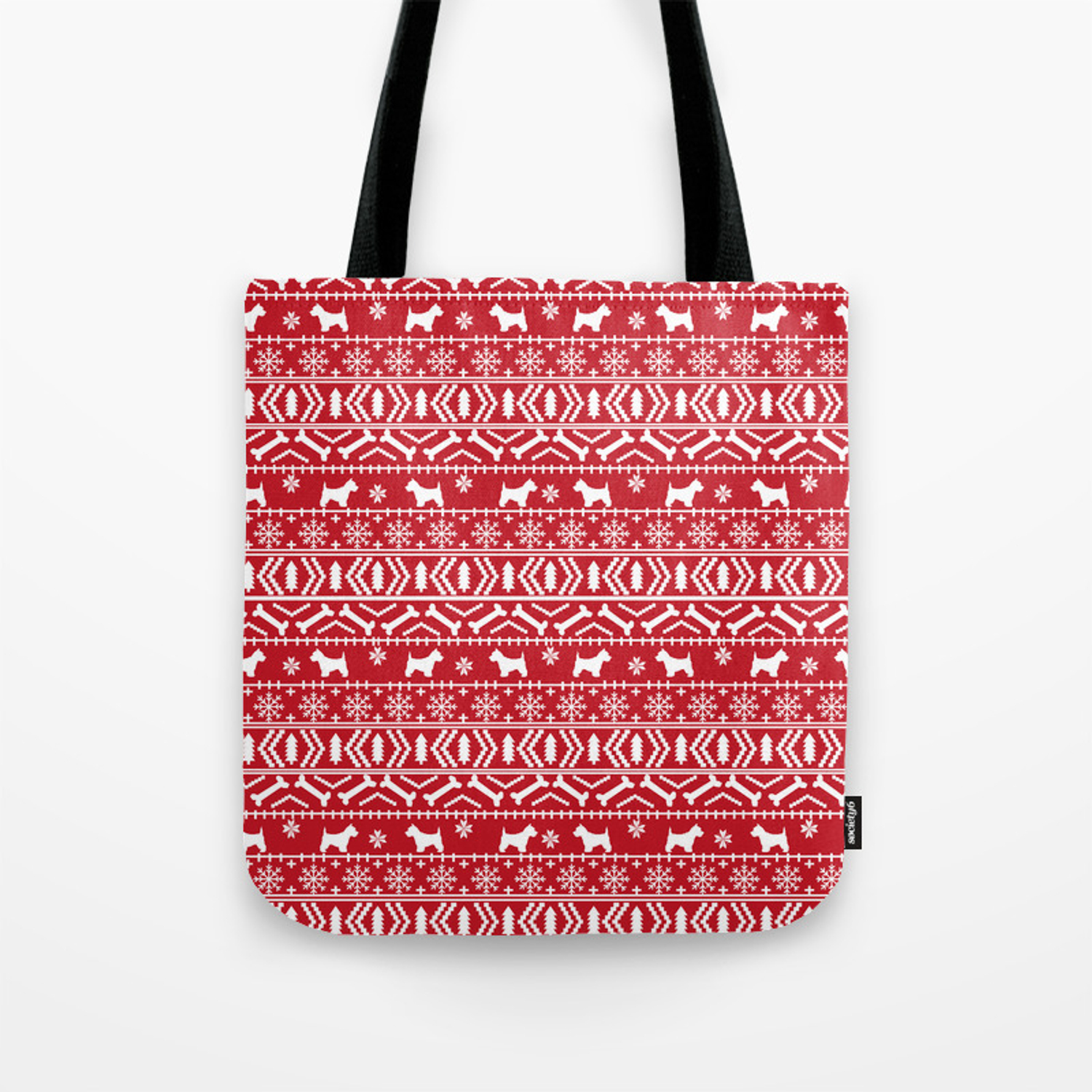 Small Westie Christmas Paper Gift Bag