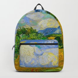 Wheat Field with Cypresses Vincent van Gogh Oil on canvas 1889 Backpack