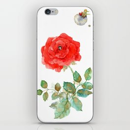 Le Petit Prince Little Prince with Fox & Rose vertical iPhone Skin
