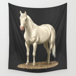 Beautiful White Cremello Horse Wall Tapestry