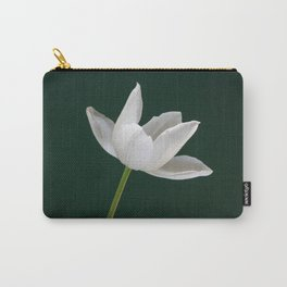White Tulip Minimalism Carry-All Pouch