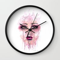 Abastract Watercolor Portrait Wall Clock
