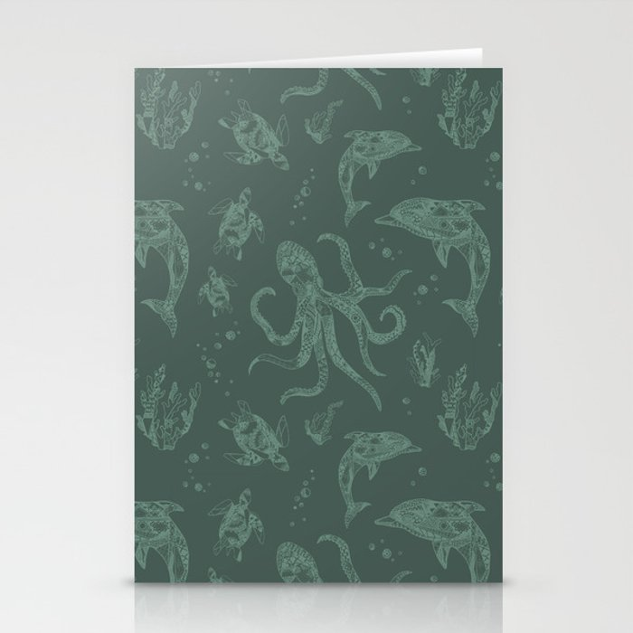 Shafted Sea Stationery Cards