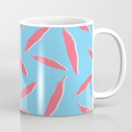 Flamingo Silhouette Bird Feathers Seamless Vector Pattern Background Coffee Mug