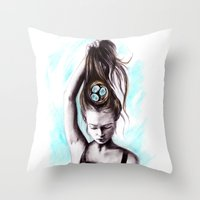 rapunzel Throw Pillows featuring Rapunzel  by Bella Harris