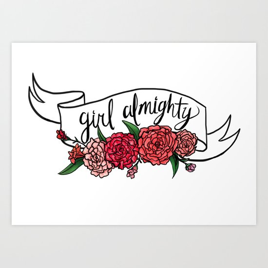 girl almighty Art Print
