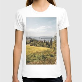 Views of Astoira, Oregon and Bridge   Travel Photography T-shirt